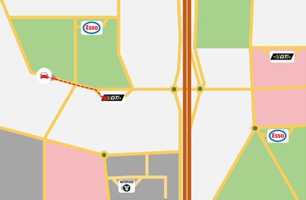 Kaartje waar tanken Carfood motorbrandstoffen netwerk Homepagina 7